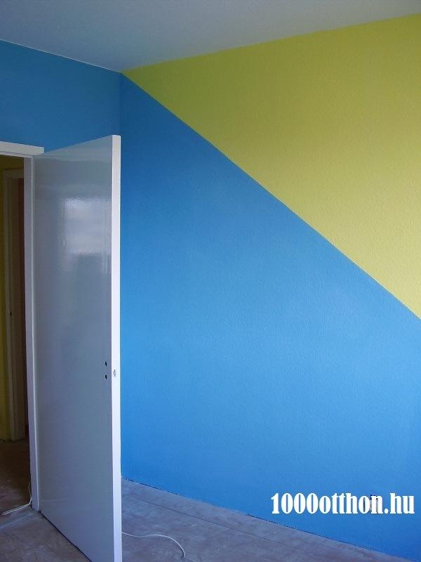 kék, sárga falefestés, színes falak