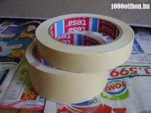 papír festőszalag, festés,dekorálás