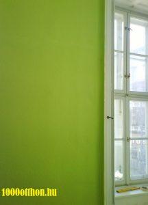 zöld falak,pisztácia zöld, festés