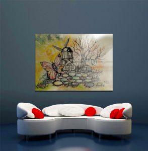 képek grafikák a lakásban