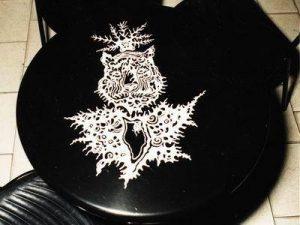 asztal dekorálás fekete fehérben