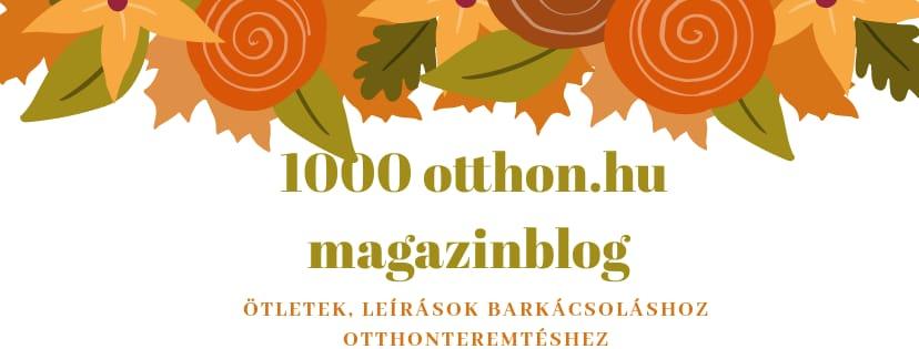 1000 otthon blog őszi logó